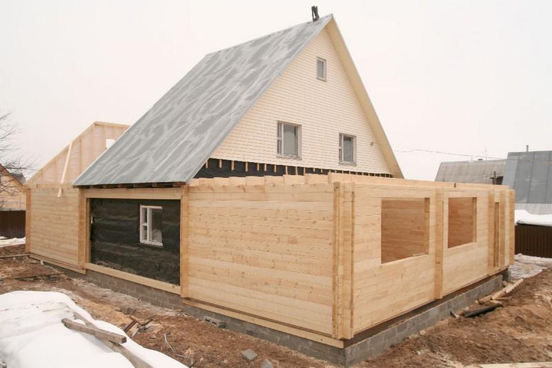 Как пристроить к дому из бруса своими руками