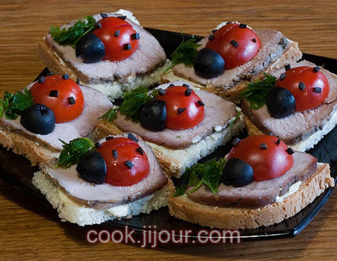 Рецепт бутербродов простых