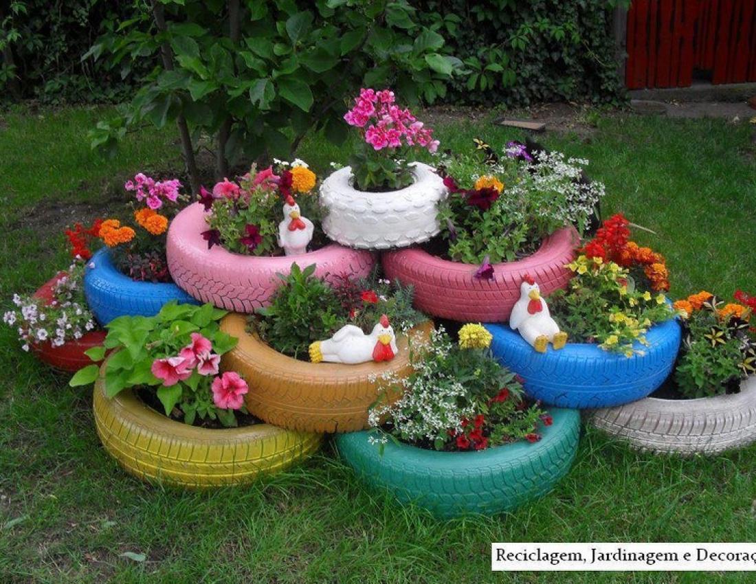 Декор сада из подручных средств