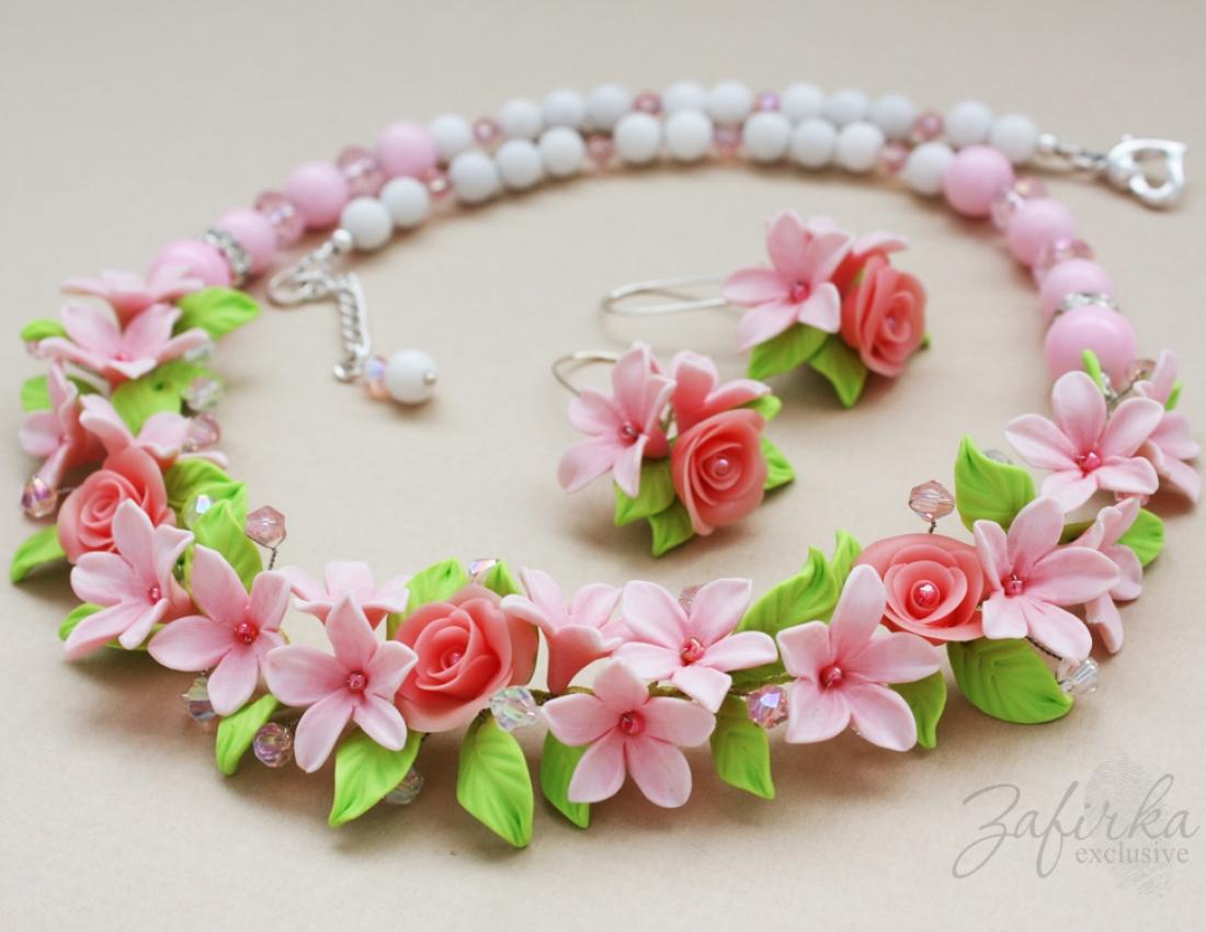 Цветы и украшения из глины 66