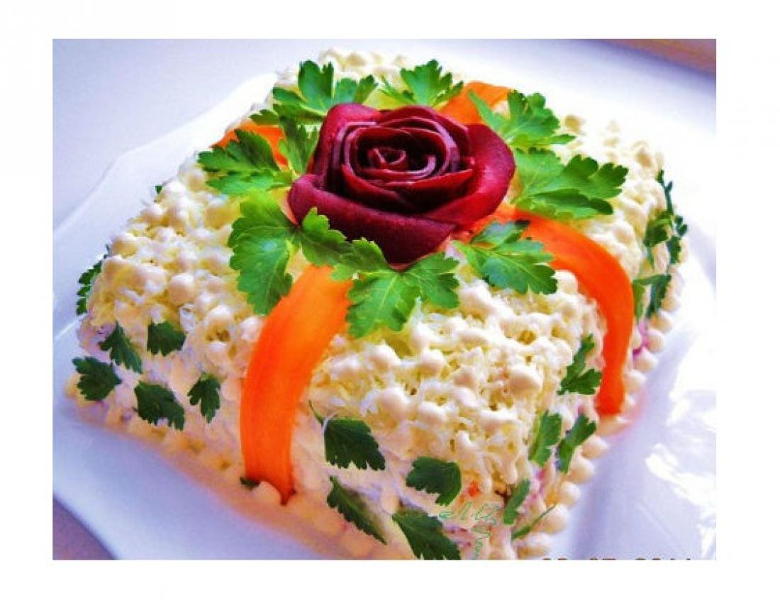 Как украсить оригинально салат