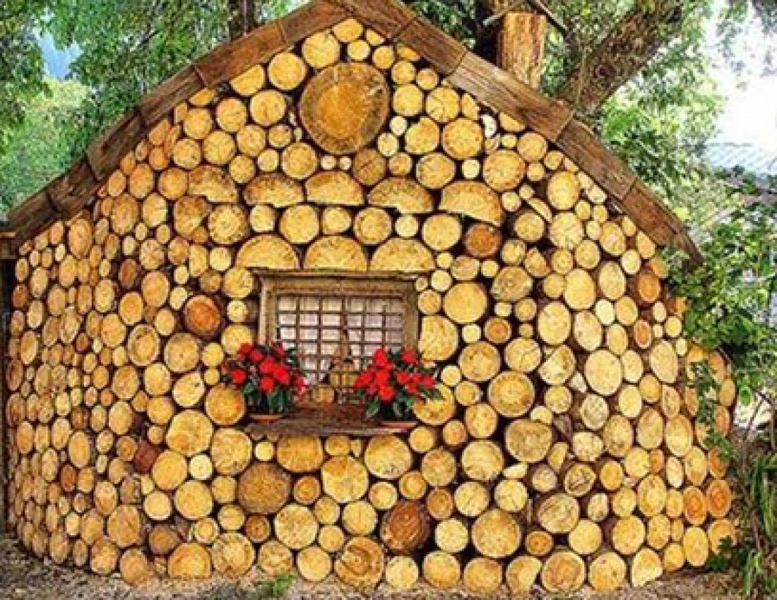 Дом из дров и цемента своими руками