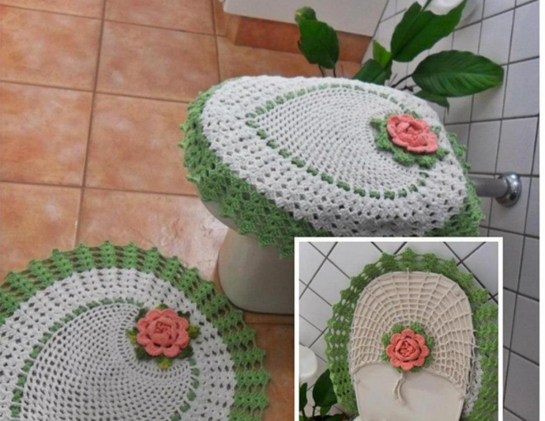 Вязание крючком коврик для туалета